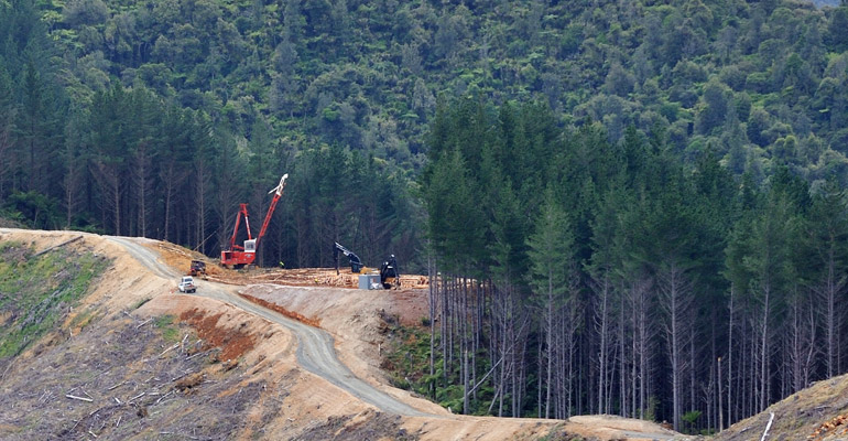 Tenco logging operation in New Zealand